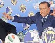 Berlusconi in campagna elettorale (Scrobogna /LaPresse)