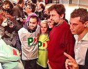 Moretti tra i sostenitori del Pd all'Ambra Jovinelli