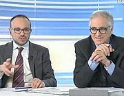 La diretta elettorale di Corriere.it: in studio Daniele Manca, a destra, e Massimo Rebotti