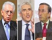 Monti, Fini e Casini, risultati insoddisfacenti sembrerebbe