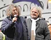Beppe Grillo, con Gianroberto Casaleggio (Ansa)