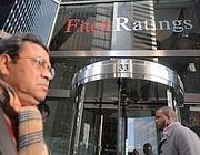 La sede di Fitch Ratings a New York (Ansa/Justin Lane)