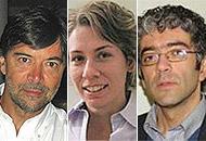 Da sinistra: Oliviero Bruni, Paola Proserpio e Lino Nobili