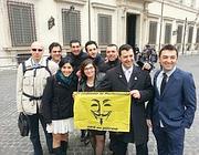 La foto postata su Twitter dell'arrivo a Montecitorio