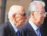 Napolitano e Monti