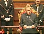 Grasso durante il suo primo discorso al Senato