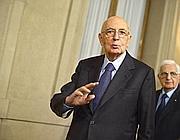 Il presidente Napolitano (Ansa)