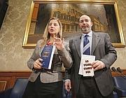 Il capogruppo alla Camera del M5s Lombardi e quello al Senato Crimi