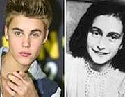 Justin Bieber e Anna Frank