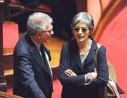 Anna Finocchiaro con Luigi Zanda