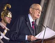 Giorgio Napolitano (Ansa/A. Carconi)