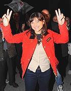 Debora Serracchiani a Trieste per celebrare la vittoria nelle elezioni regionali del Friuli Venezia Giulia (Cavicchi)