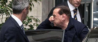 Silvio Berlusconi al rientro da Dallas