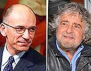 Enrico Letta e Beppe Grillo