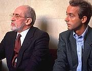 Vito Ciancimino con il figlio Massimo in una foto d'archivio (Giacomino Foto)