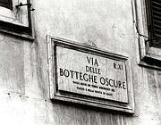 Via delle Botteghe Oscure, storica sede del Pci