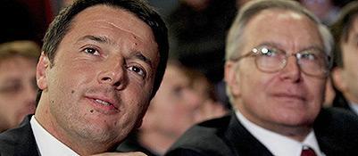 Matteo Renzi e l'attuale segretario pd, Guglielmo Epifani
