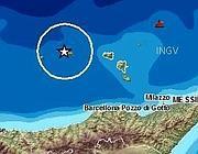 La mappa del sisma dal sito dell'Ingv
