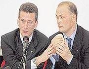 A sinistra il professor Lanzetta con Walter Visigalli (Radaelli)