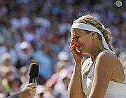 Sabine Lisicki in lacrime (LaPresse)