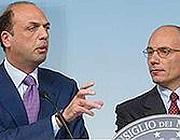 Angelino Alfano ed Enrico Letta