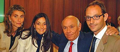 Da sinistra Giulia, Jonella, Salvatore e Paolo Ligresti