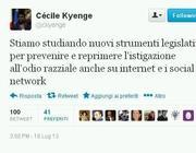 Il tweet di Cécile Kyenge