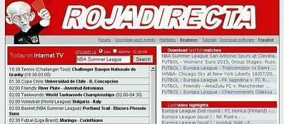 L'homepage del sito RojaDirecta