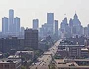 Un'immagine di Detroit (Foto Epa /Laverty)