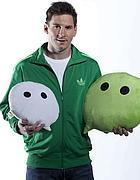 Leo Messi, il volto di WeChat per il lancio internazionale