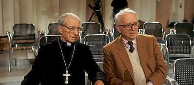 Il cardinale Tonini con Enzo Biagi