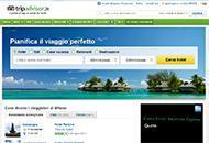 L'home page di Tripadvisor
