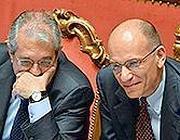 Saccomanni e Letta (Imagoeconomica)