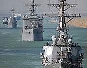 La flotta americana (Afp)