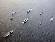 Navi militari Usa in navigazione versio le coste siriane (Reuters)