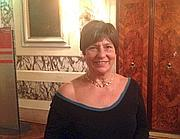 Roberta Bortone, la moglie dello scrittore Ugo Riccarelli, durante la serata di gala al Casin� di Venezia per la premiazione dei finalisti del premio Campiello (Ansa)