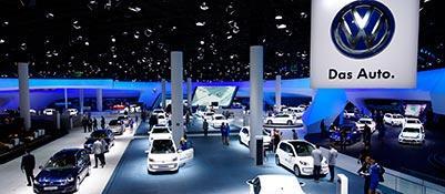 L'area Volkswagen al Salone di Francoforte (si conclude il 22 settembre)