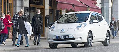 Una Nissan Leaf a Oslo