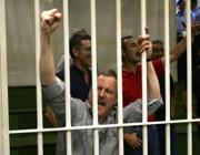 Alfredo Davanzo e altri terroristi durante la lettura della sentenza il 13 giugno 2009 a Milano.