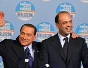 L'ex premier Silvio Berlusconi e Angelino Alfano (Ap/Medichini)