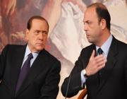 Silvio Berlusconi e Angelino Alfano (Ansa)