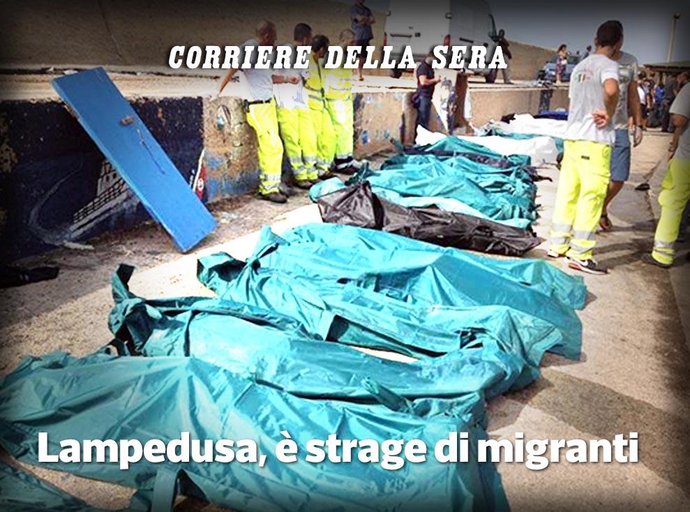 Lampedusa: strage di migranti