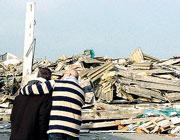 Le macerie dell'altoforno dove è morto Leonardo Ansaloni, 51 anni
