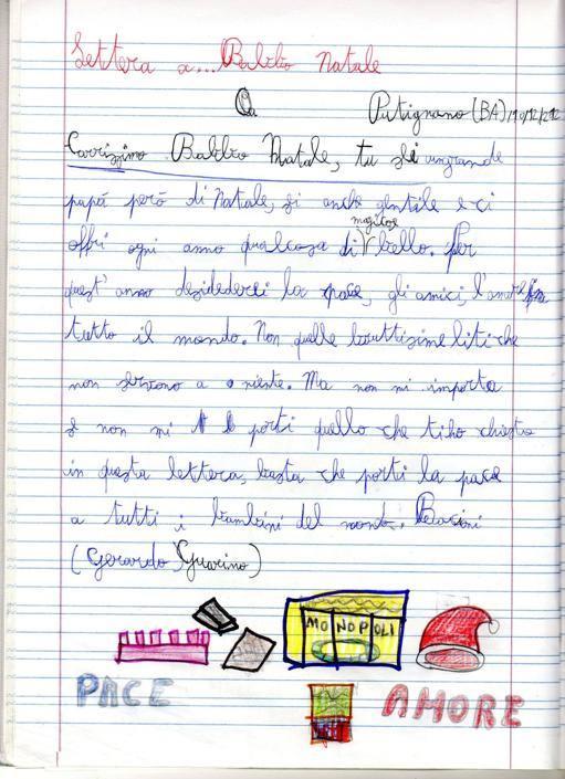 Gerardo, 8 anni, Putignano (Ba)
