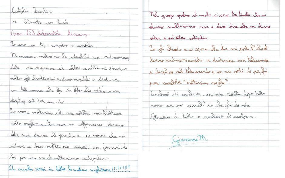 Giovanni, 9 anni, Castiglion Fiorentino