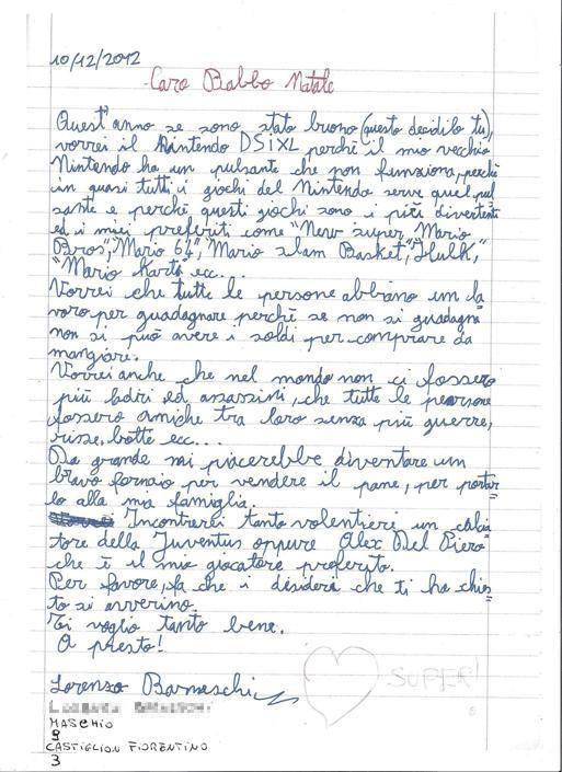 Lorenzo, 9 anni, Castiglion Fiorentino