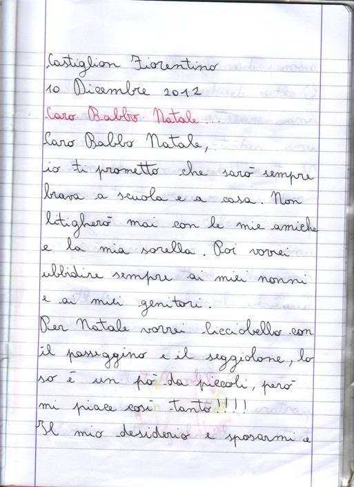 Chiara, 9 anni, Castiglion Fiorentino