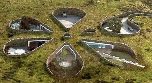 Le case ecologiche scavate sottoterra for Progetti case ecologiche