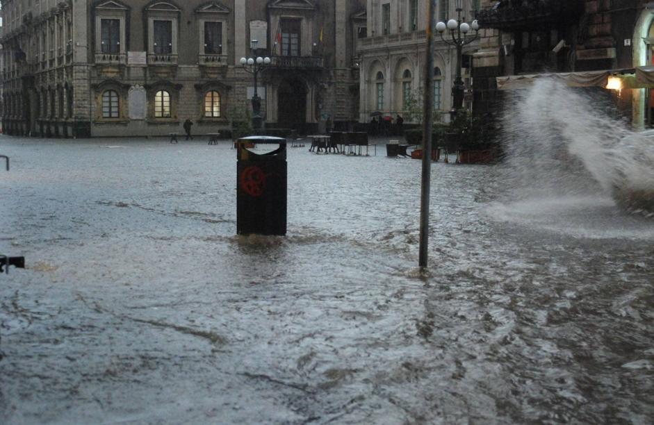 Violento nubifragio su Catania: danni e disagi$
