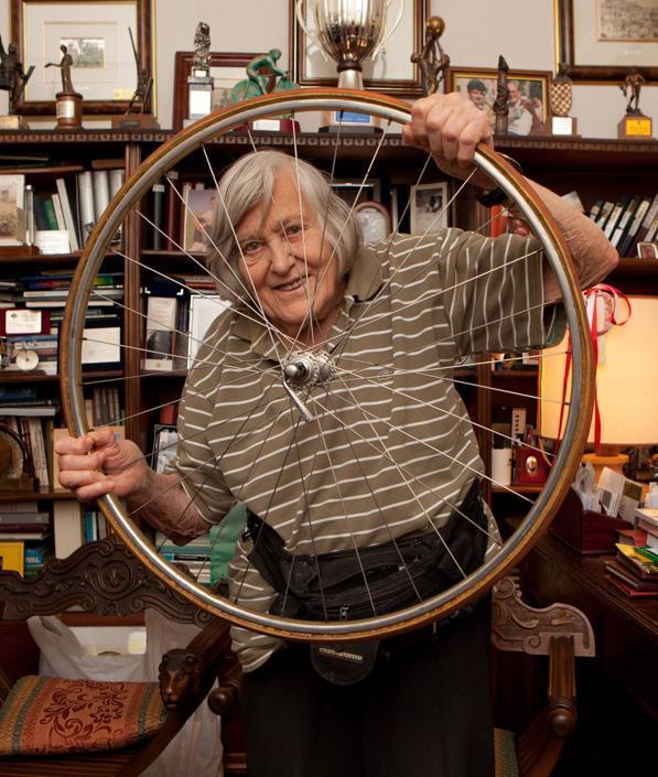 Nel 2011 a casa di Alfredo Martini, l' ex commissario tecnico della nazionale di ciclismo (Paolo Nucci)